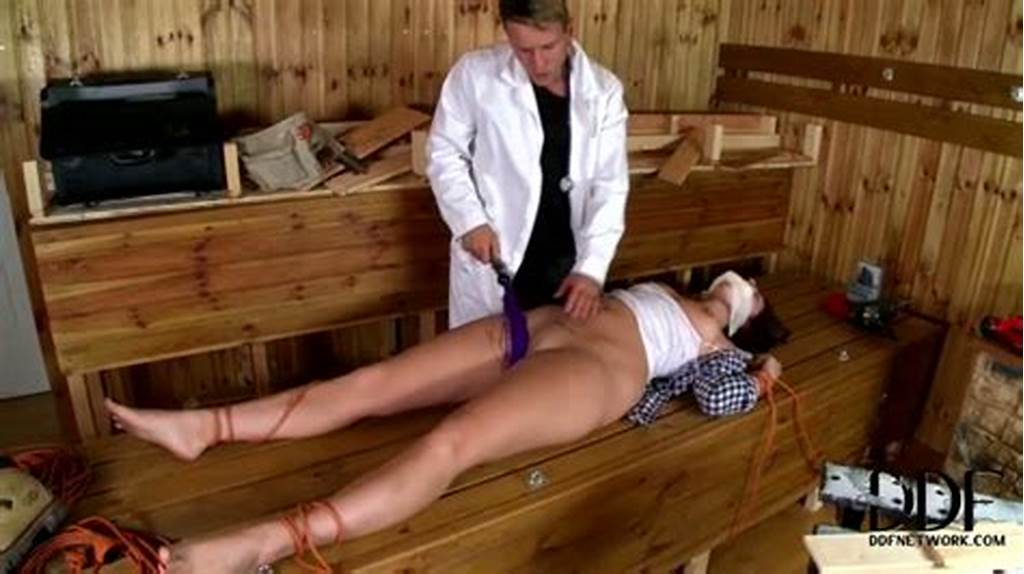 #Salty #Patient #Gets #Tied #With #Rope #And #Fucked #Hard #With