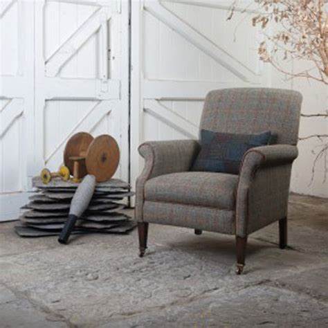 canapé style anglais en tissu fauteuil anglais bowmore en tissus 100 tweed longfield