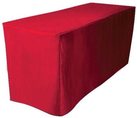 tablecloth for 8 foot table 8 39 ft fitted polyester table cover trade show booth