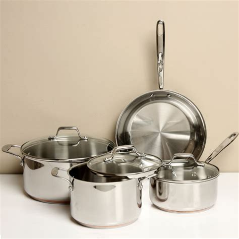 clad emerilware stainless  piece cookware set  shipping today overstockcom