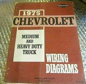1975 Factory Chevrolet Medium  U0026 Heavy Duty Truck Wiring
