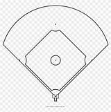 Baseball Field Coloring Line Drawing Diamond Pngfind Clipart sketch template