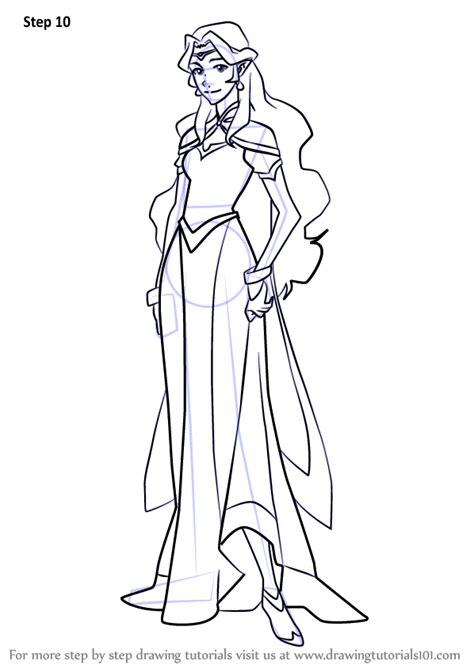 learn   draw princess allura  voltron legendary defender voltron legendary defender
