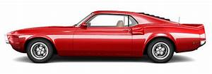 Red Muscle Car On A White Background Stock Illustration ...