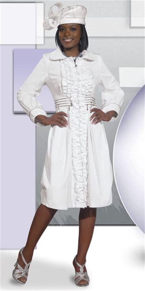 DV Jeans 8391 Womens White Church Dress with Ruffle - French Novelty