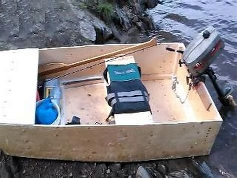 Free Diy Fishing Boat Plans by Home Made Diy Fishing Boat With Outboard Motor Youtube