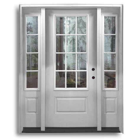 pre hung fiberglass door  sidelites qtr  lite