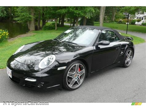 porsche 911 convertible black 2008 porsche 911 turbo cabriolet in black 788254