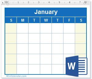 word calendar blank printable calendar templates