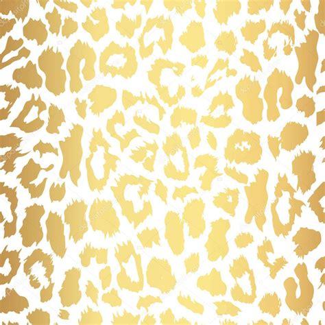Seamless gold leopard print. Vector pattern, texture ...