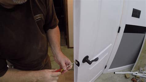 install door handles  double doors   install  dummy door handle youtube