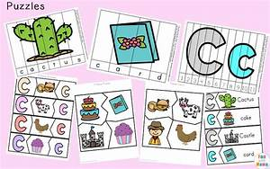 letter c worksheets and printables pack fun with mama With number and letter puzzles