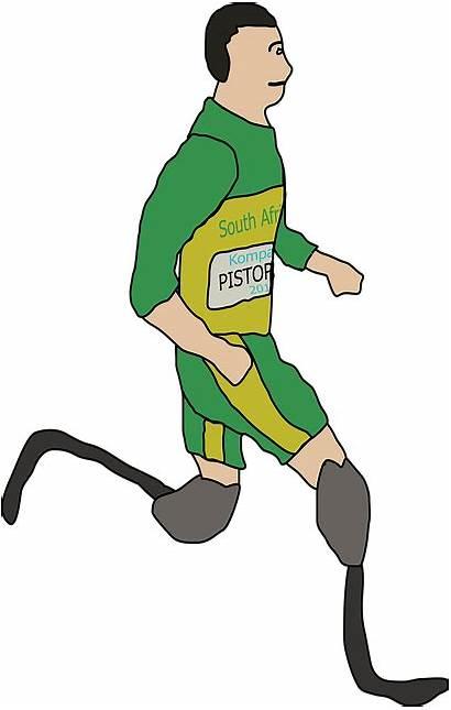 Amputee Clipart Oscar Clip Disabled Runner Pistorius