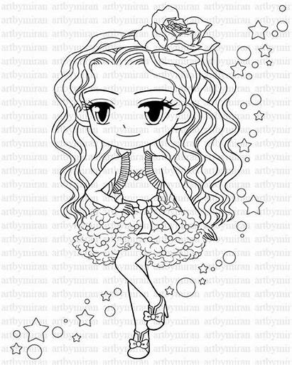 Coloring Pretty Digital Star Pages Stamp Darlings