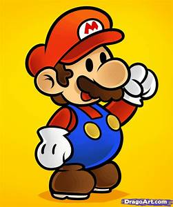 How to Draw Paper Mario, Paper Mario, Step by Step, Video ...