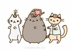 pusheen cat birthday they say meow august 2011