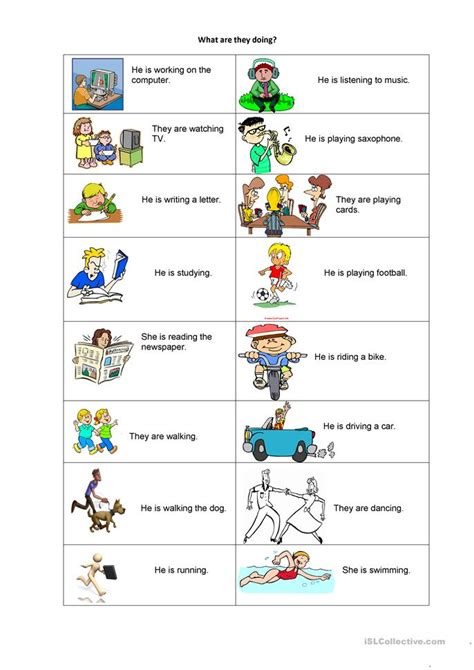 What Are They Doing? Worksheet  Free Esl Printable Worksheets Made By Teachers