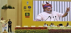 File:Narendra Modi addressing at the launching ceremony of ...