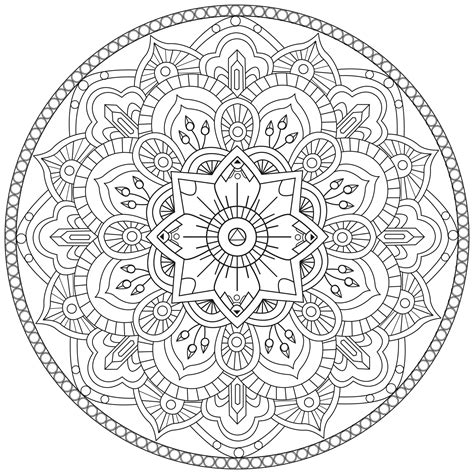 Mandala Images Mandala Par Pauline Mandalas Coloriages Difficiles