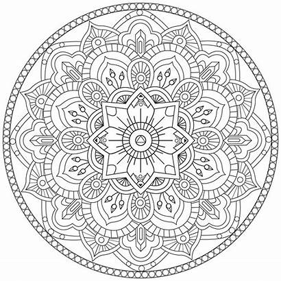 Mandala Mandalas Coloriage Coloring Colorier Adulte Imprimer
