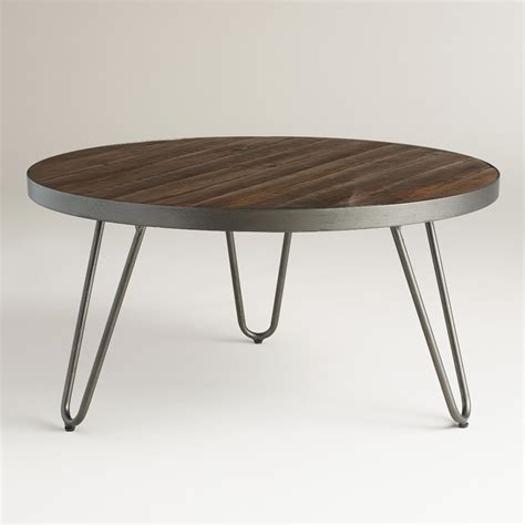 wood coffee table with metal legs round wood hairpin coffee table hairpin legs acacia