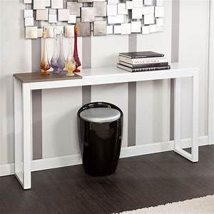 Hallway Furniture: Modern White Narrow Console Tables For