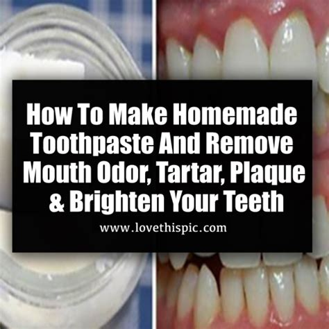 homemade toothpaste  remove mouth odor