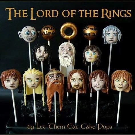 middle earth desserts lord   rings cake pops