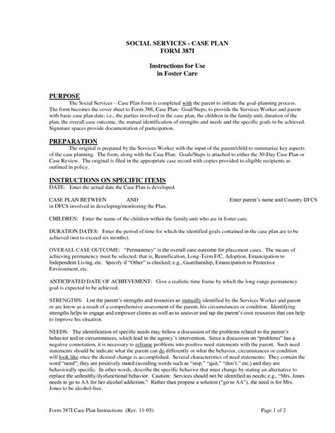 Plan Template Social Work by How To Write A Study For Social Work