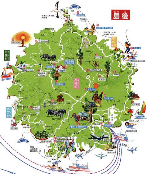 島根県 隠岐 島後 観光マップ