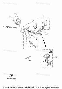 Yamaha Atv 2005 Oem Parts Diagram For Handle Switch