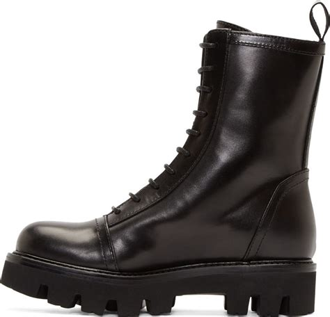 Versus Black Safety Pin Combat Boots Lyst