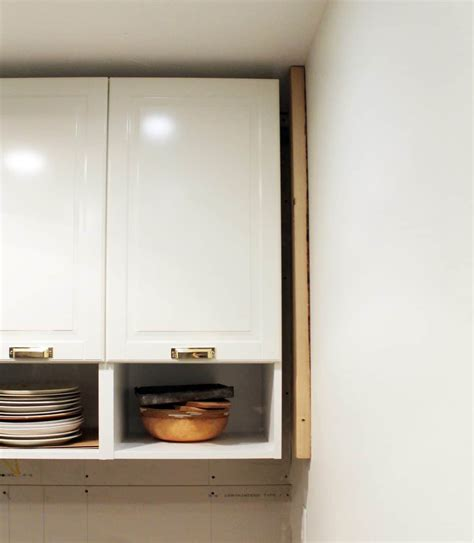 how to install a cabinet filler how to trim out ikea cabinets chris loves julia