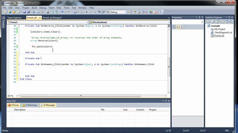 Visual Basic Tutorial 15  Arrays As Parameters And Multidimensional Arrays Youtube