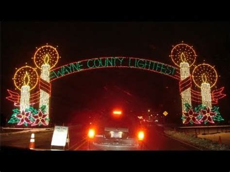 christmas lights drive thru display youtube