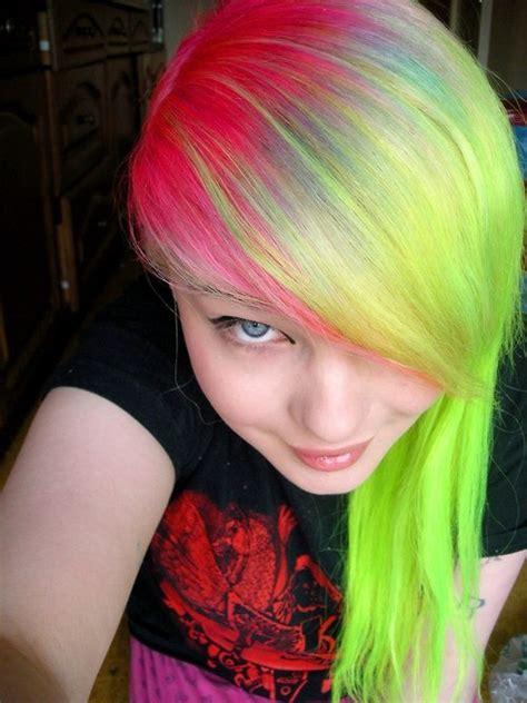 Multi Colored Hair Hair Pinterest