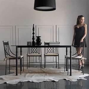 Chaise Fer Forgé : chaise en fer forg marsella 4 pieds tables chaises et tabourets ~ Teatrodelosmanantiales.com Idées de Décoration