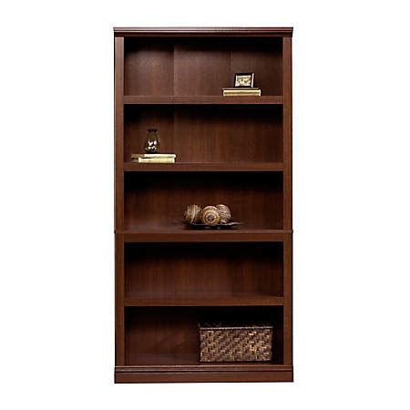 Sauder Bookcase Cherry by Sauder Select Bookcase 5 Shelf Select Cherry Office Depot