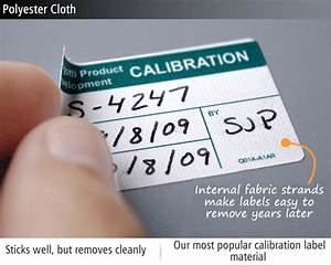 custom calibration labels quality control tags at With calibration tag