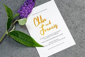 Wedding invitation wording how to get it right foil for Wedding invitations writing names