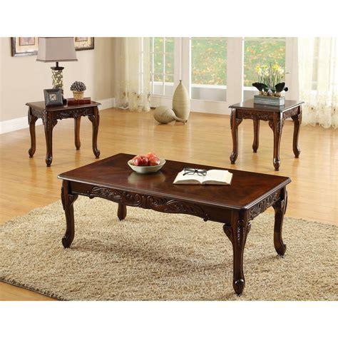 Furniture Of America Mariefey Classic 3piece Cherry