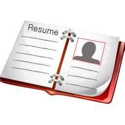 resume icon standard portfolio iconset aha soft