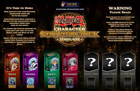 character structure deck series one preview by yugicorp on deviantart