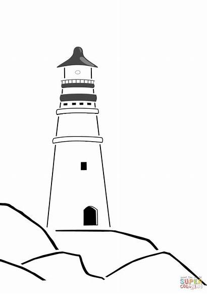 Lighthouse Coloring Pages Cape Hatteras Printable Paint