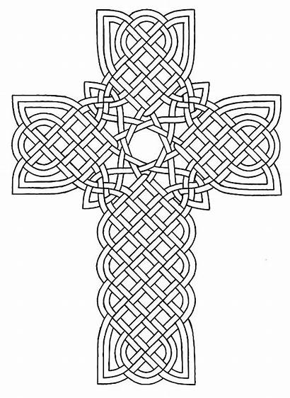 Coloring Cross Pages Celtic Tribal Designs Rose
