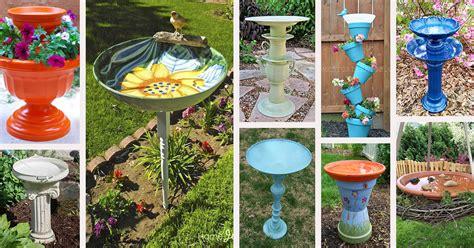 diy bird bath ideas  designs