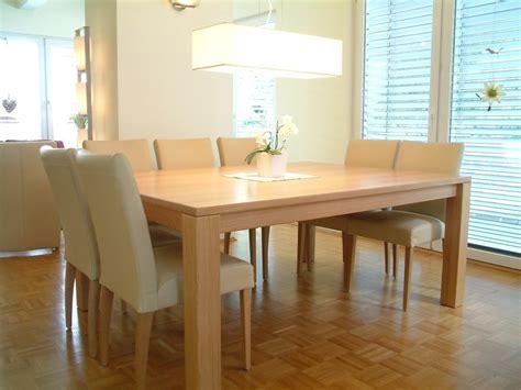 esstisch 4 stühle esstisch tisch variato 185 x 135 cm mit 2 ansteckplatten der masstisch in eiche asteiche