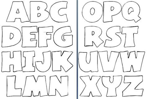 moldes de letras abecedario grandes para imprimir imagui