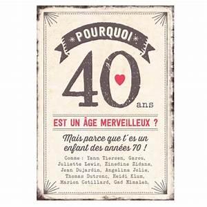 Cadeau Homme 40 Ans : maxi carte pourquoi 40 ans est un ge merveilleux cadeau maestro ~ Teatrodelosmanantiales.com Idées de Décoration