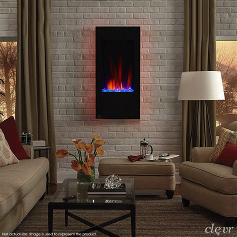 clevr  vertical wall mount electric fireplace heater